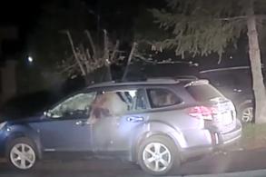 [Vídeo] Veja policial tirar urso de dentro de carro