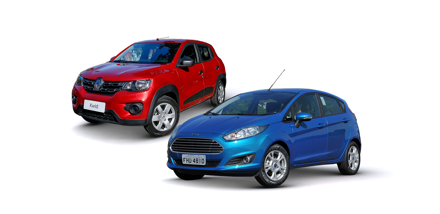 comparativo kwid new fiesta