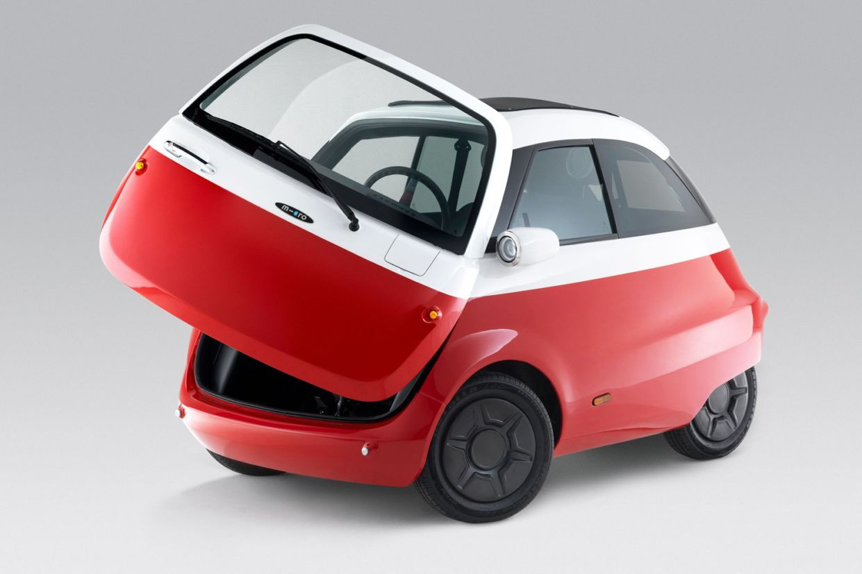 microlino car red front
