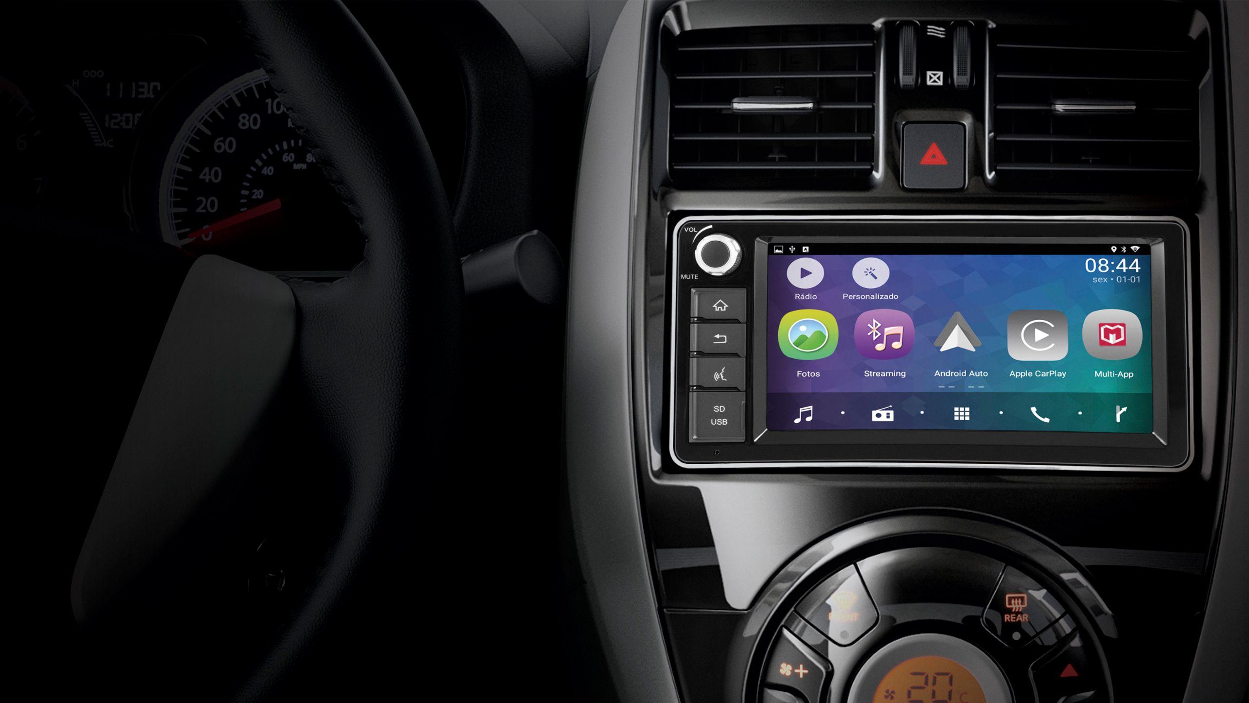 Nissan March 2019 tem central multimídia mais completa
