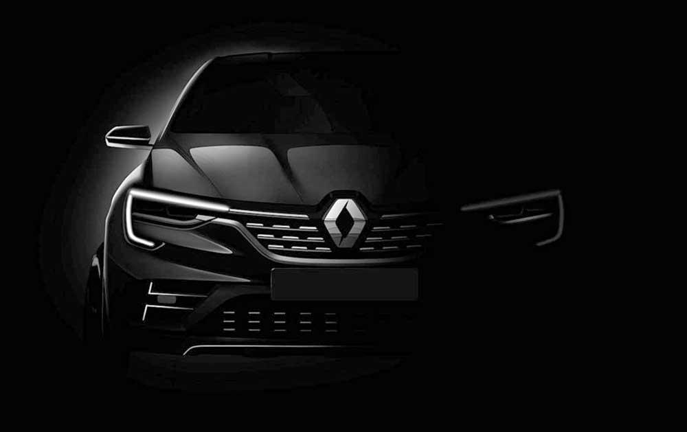 Renault divulga mais um teaser do SUV Coupé Arkana. Modelo será apresentado pela primeira vez no Salão de Moscou e foi registrado no Brasil.