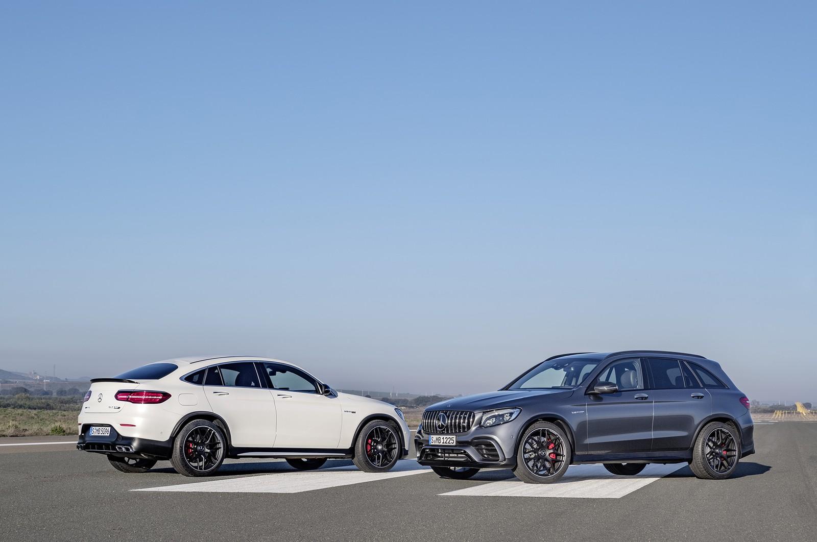 """Em razão do volume de vendas do segmento SUV, a Mercedes resolveu lançar no Brasil um novo SUV esportivo: o AMG GLC 63 nas versões """"tradicional"""" e Coupé."""