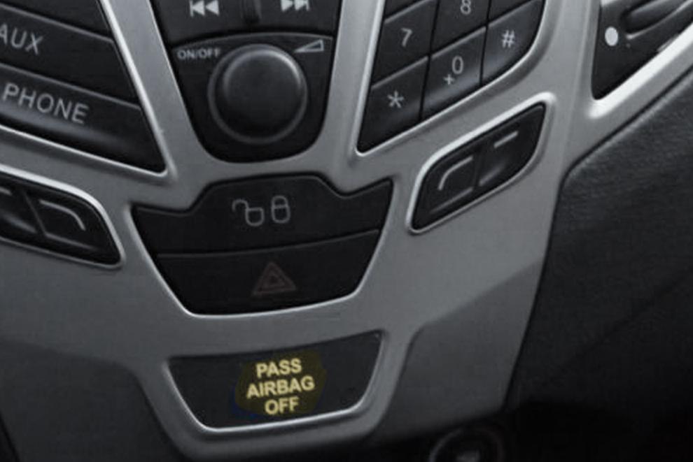 chave para desligar o airbag