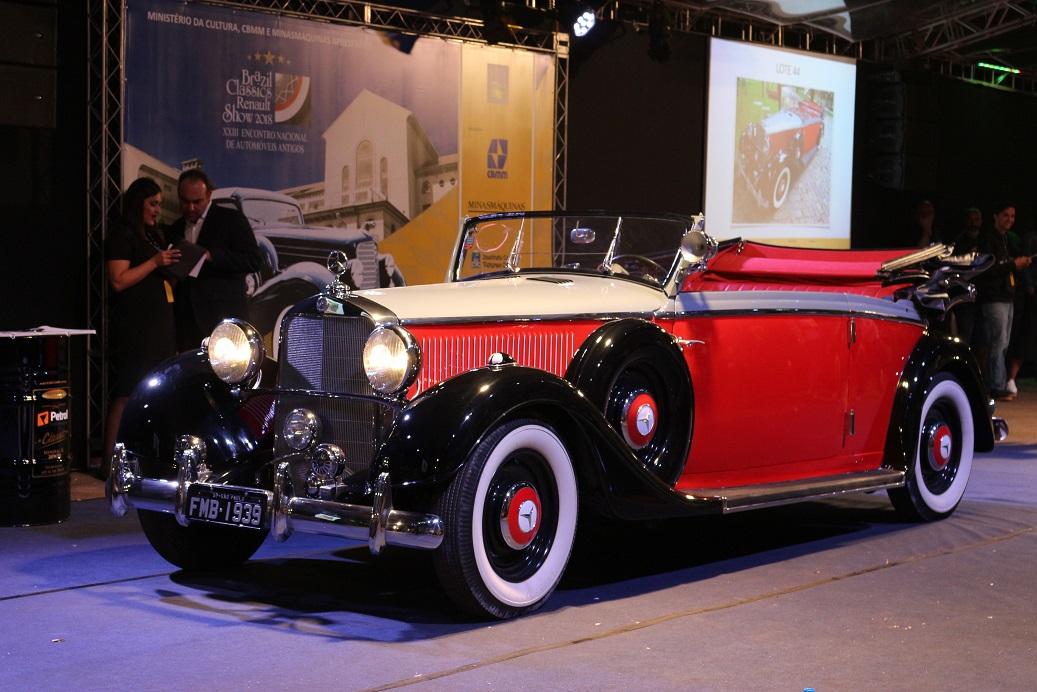Leilão de carros antigos em Araxá