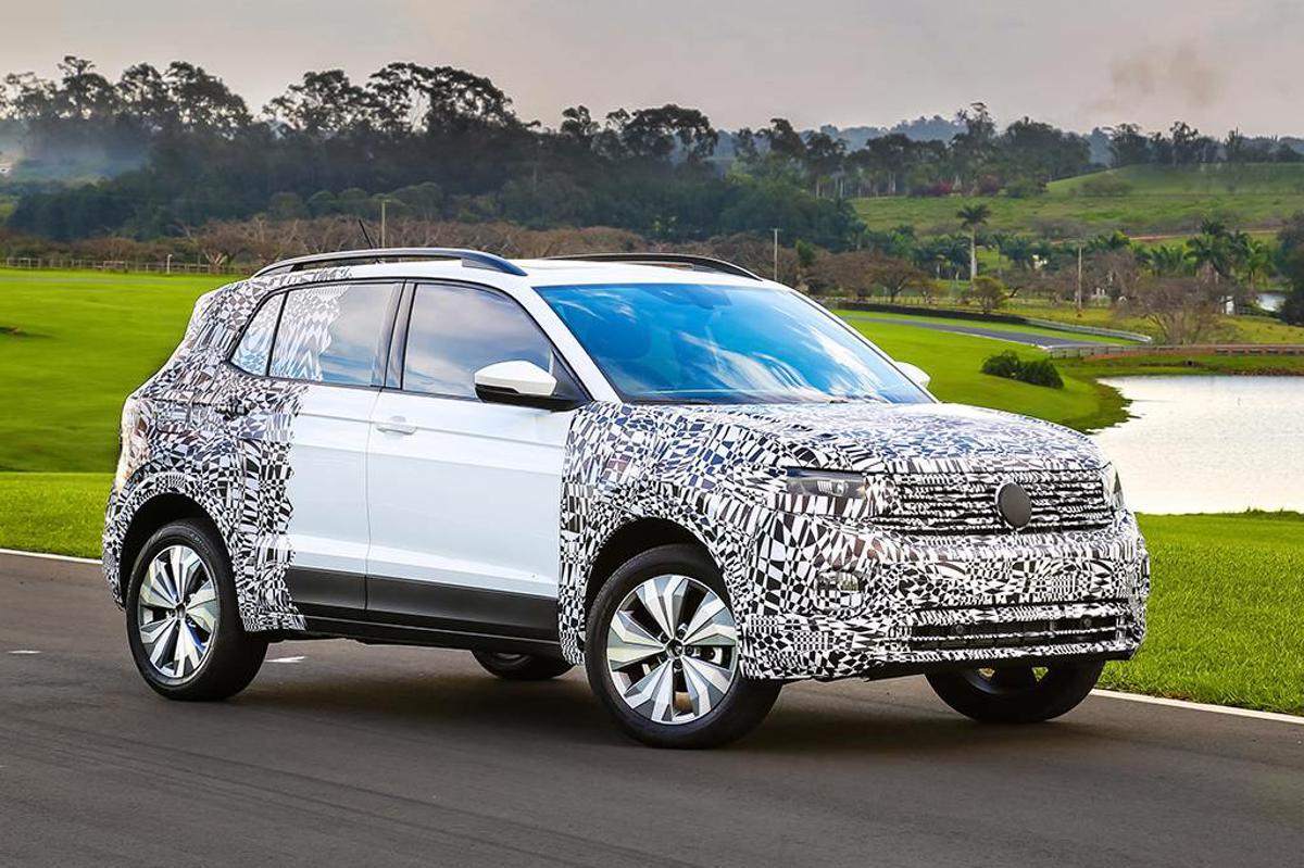 Volkswagen adiantou mais detales do novo SUV T-Cross. Modelo será apresentado no Brasil, Alemanha e China nesta quinta-feira (25).