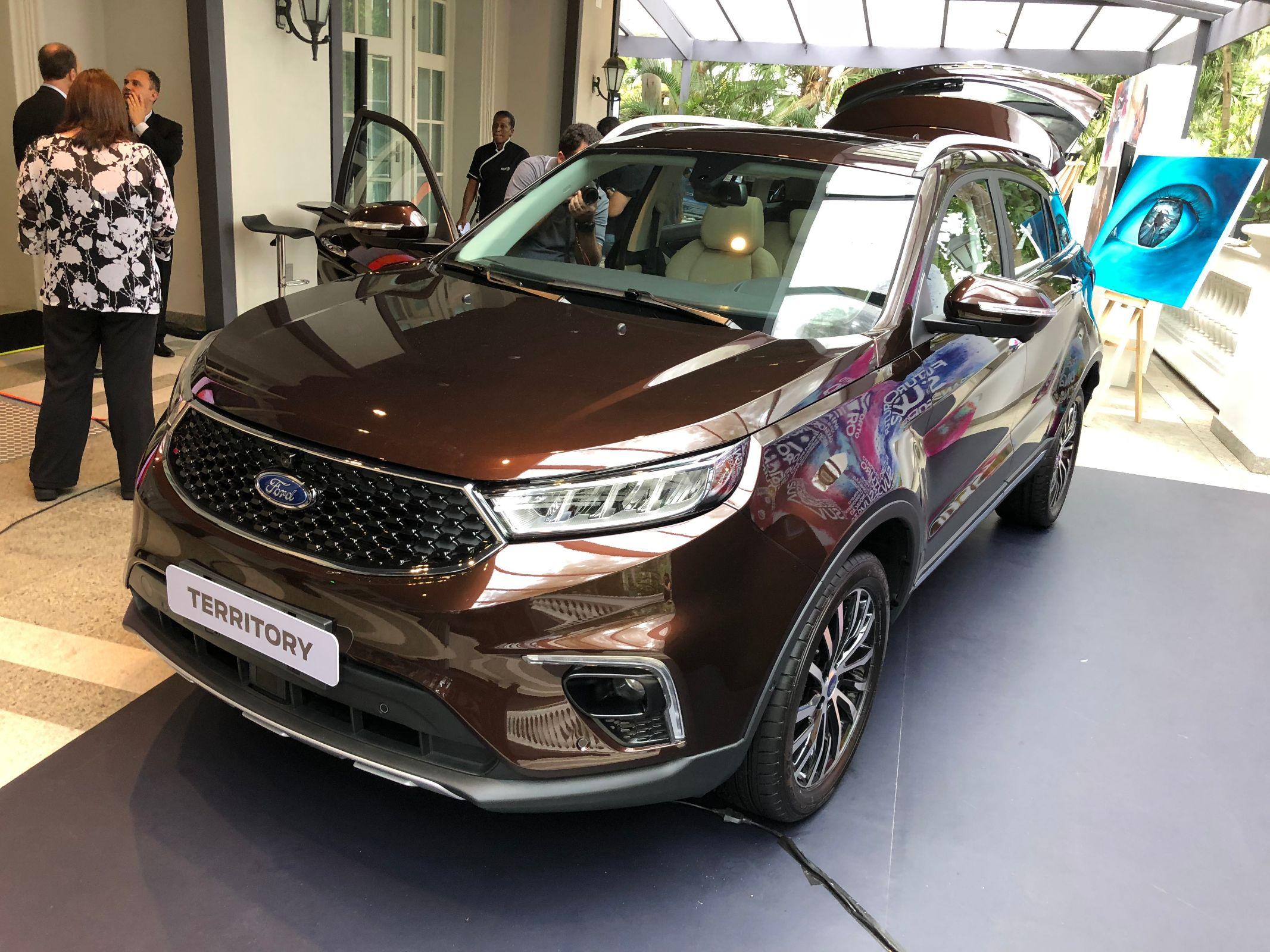 Ecosport sem estepe e SUV Territory são destaques da Ford para Salão