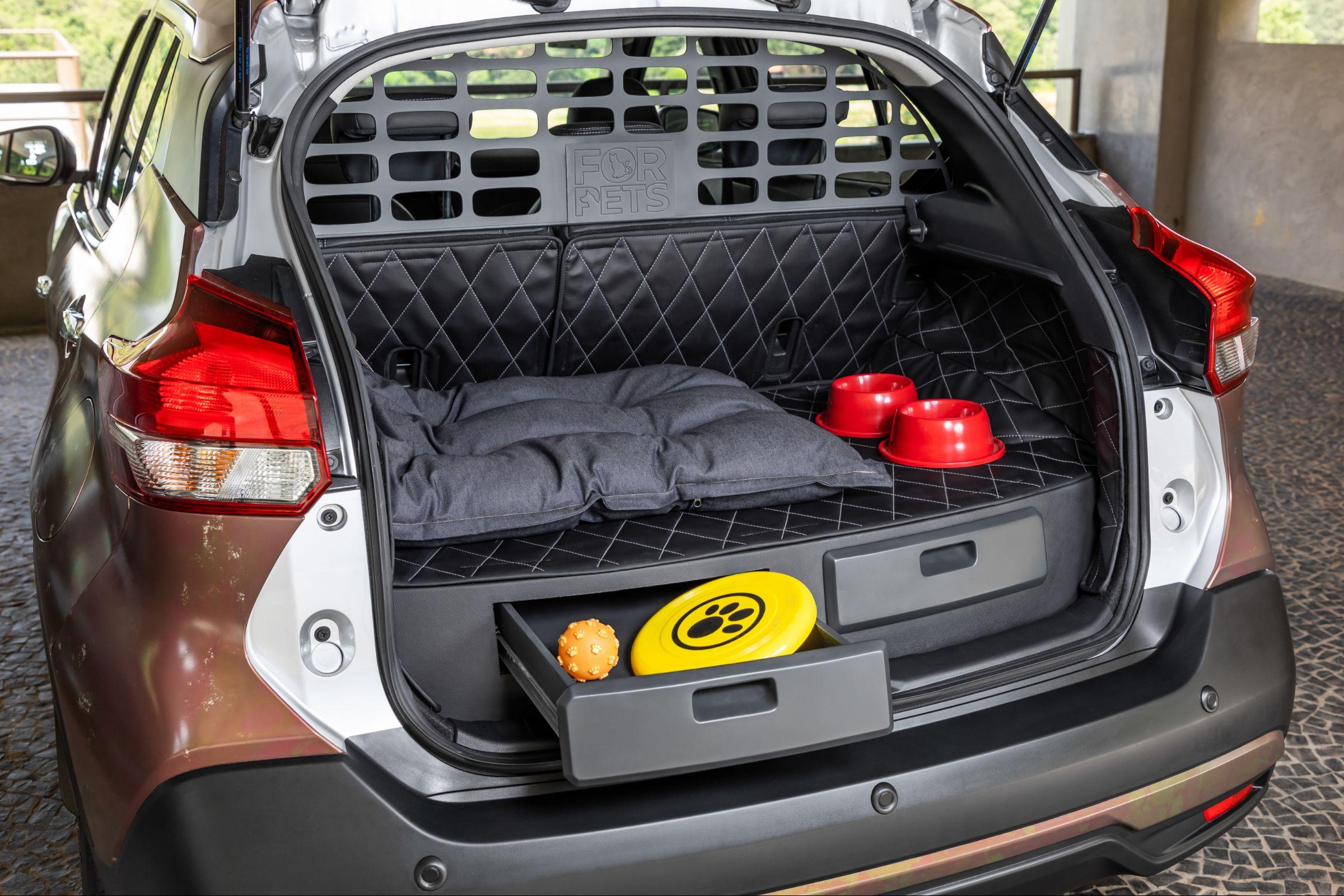 A Nissan revelou uma edição especial de seu SUV mais vendido. O Kicks para pets foi pensado para acomodar com conforto e praticidade os animais da família.
