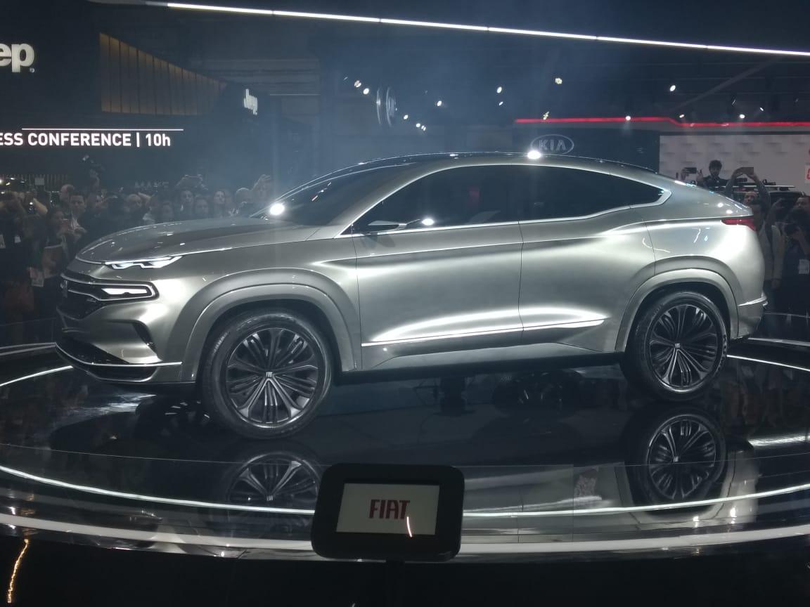 Novo SUV, derivado da picape Toro, foi confirmado para o Brasil e pode ser fabricado em Goiana junto a outros novos modelos com o investimento da Fiat. fiat fastback conceito salao sp 2018 7
