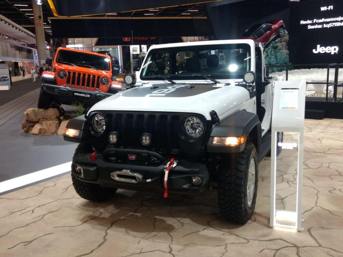jeep no salao de sao paulo wrangler
