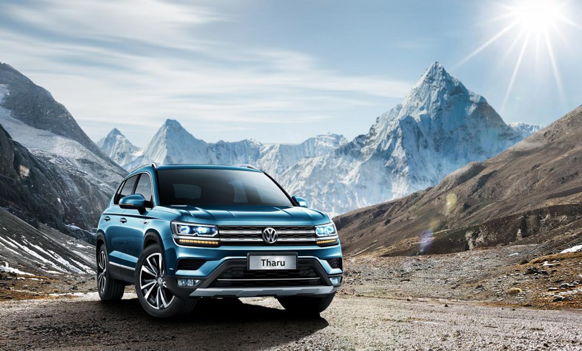 Volkswagen Tharu, que foi descoberto pelo AutoPapo, chegou ao país asiático, primeiro a receber o SUV, que chegará ao Brasil em 2020.
