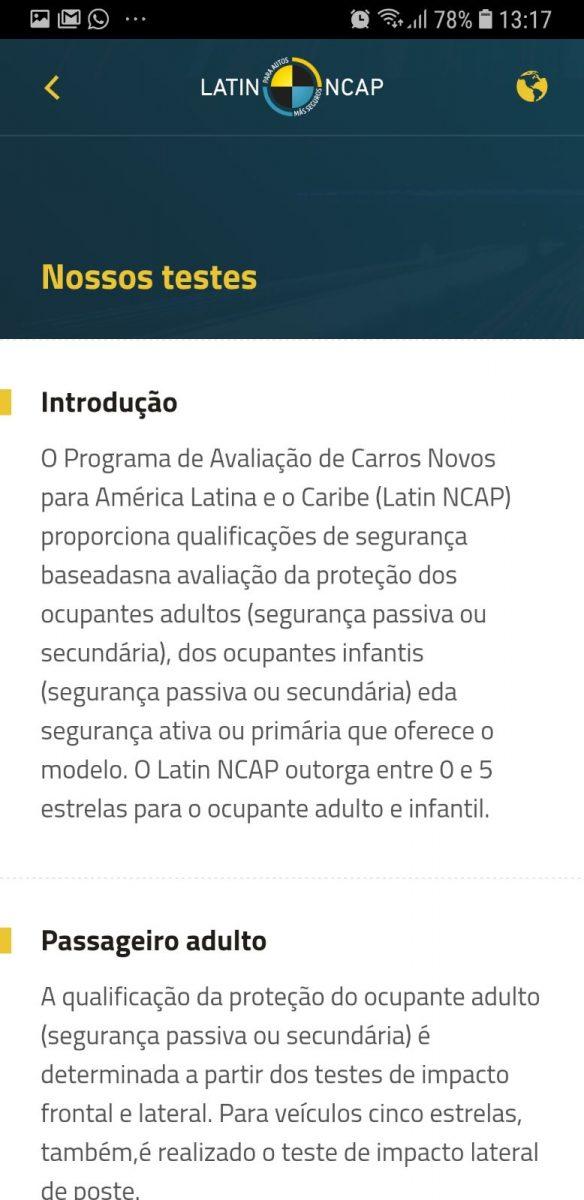 aplicativo latin ncap 3