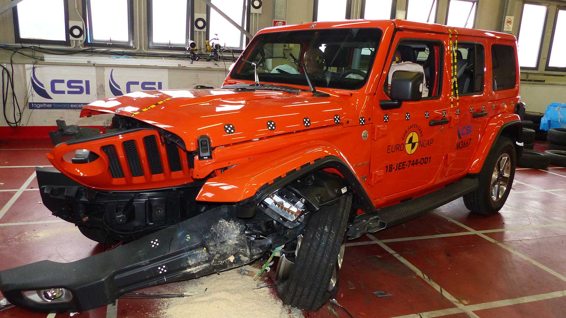 nuova jeep wrangler il crash test euro ncap 4