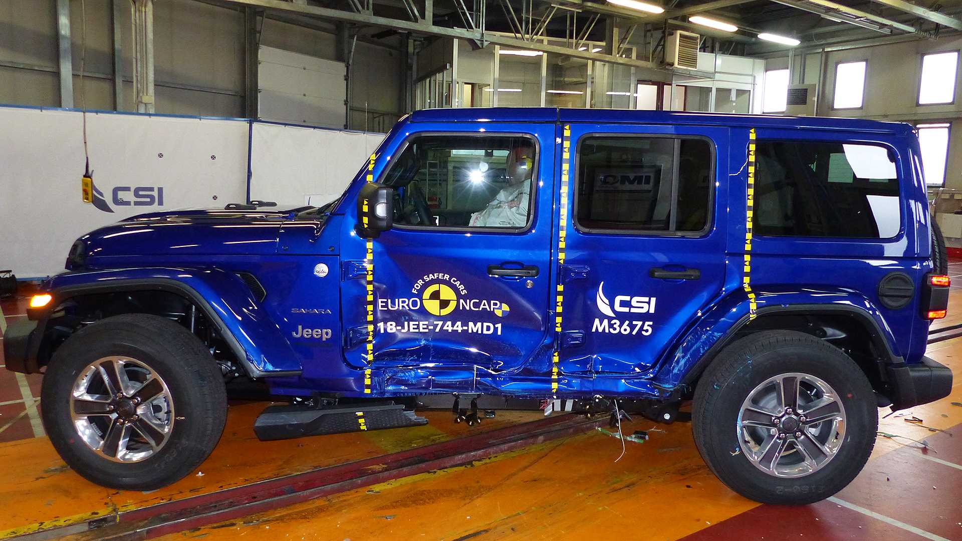 nuova jeep wrangler il crash test euro ncap