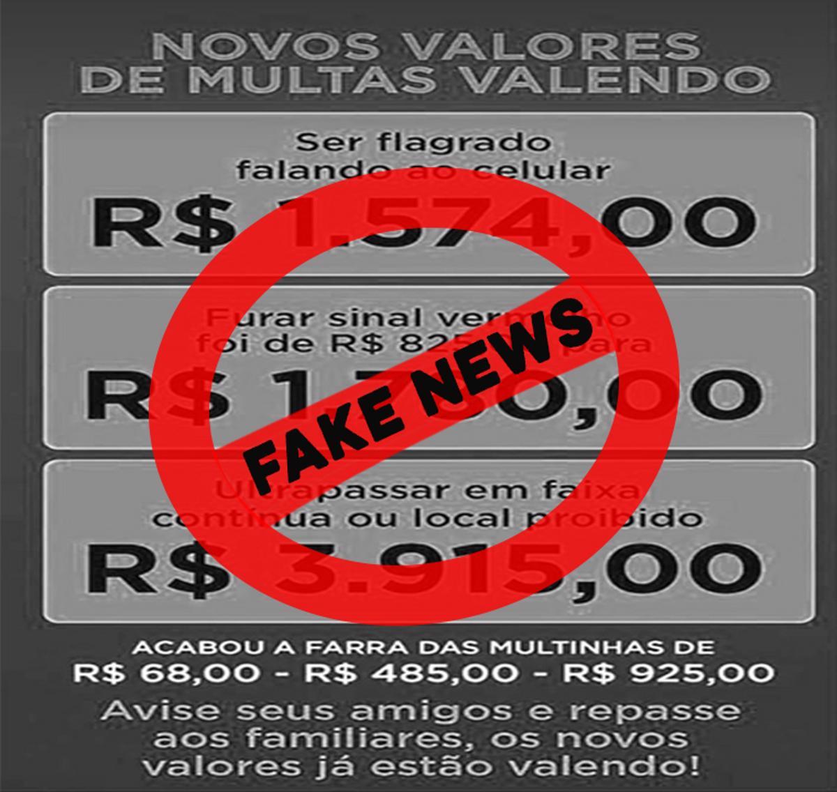 carimbo fake news multa