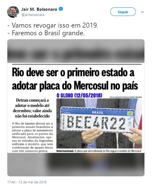 Obrigatoriedade do farol baixo, placas Mercosul, validade da CNH e suspensão. Confira a relação entre Bolsonaro e as leis de trânsito.