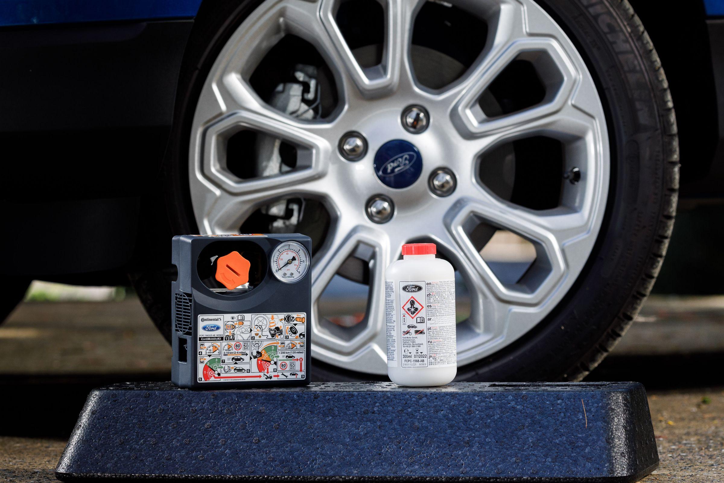 Repair kit do Ford EcoSport equipado com pneu run flat