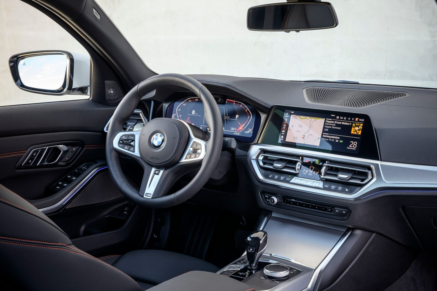 bmw serie 3 sedan 5 painel interior