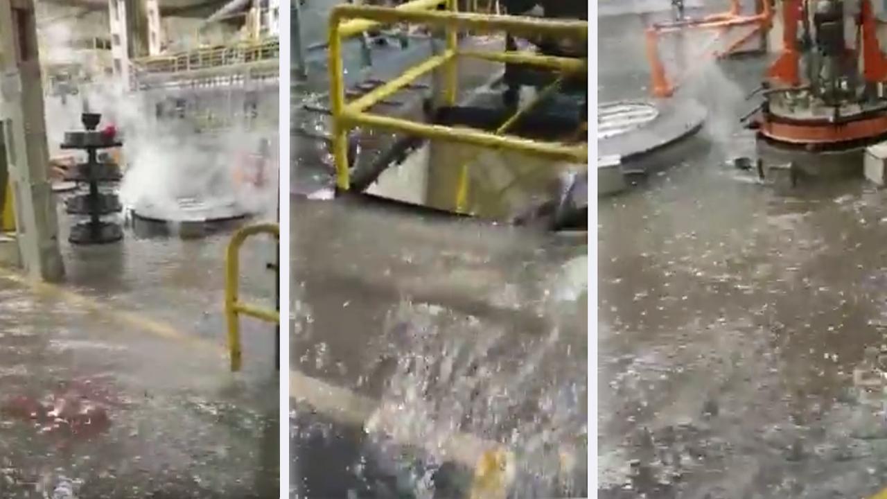 fabrica mercedes inundada