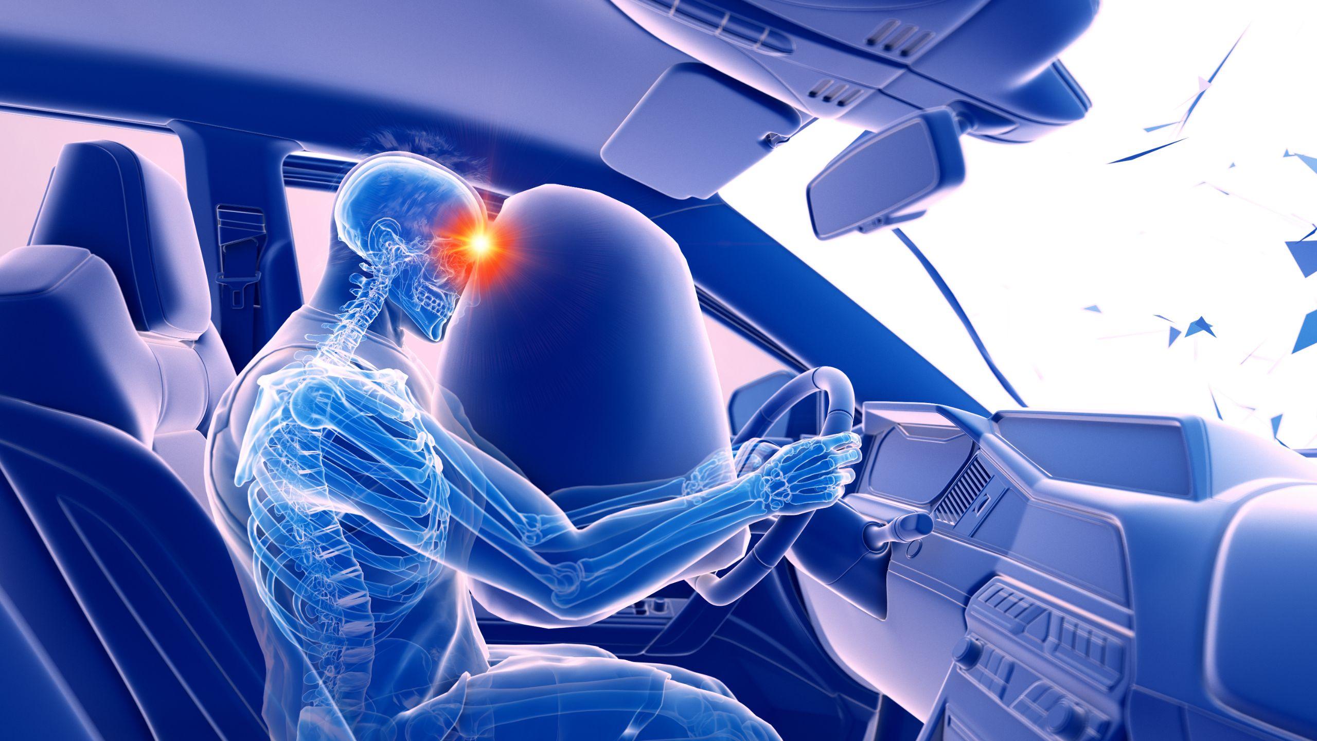 airbag estourado inflado shutterstock