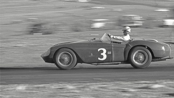 ferrari 550 pat o connor behind the wheel of 0448 md at willow springs in march of 1956