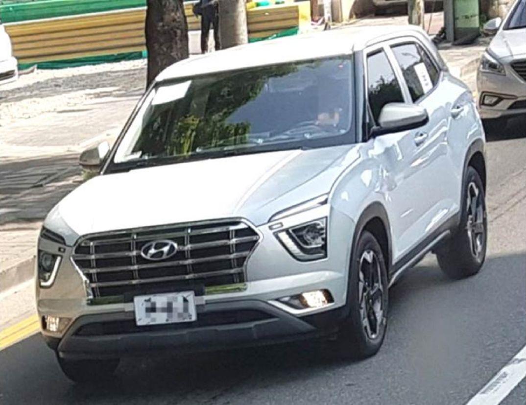 Novo Hyundai Creta reestilizado em testes na Coréia do Sul