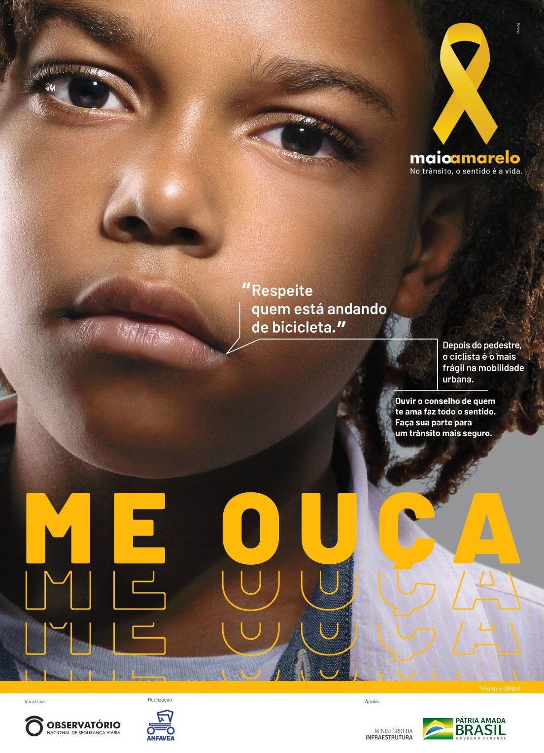 A campanha 2019 do Maio Amarelo incentiva os motoristas a escutarem as crianças. Os pequenos, muitas vezes vítimas, sabem bem o que é certo e errado.