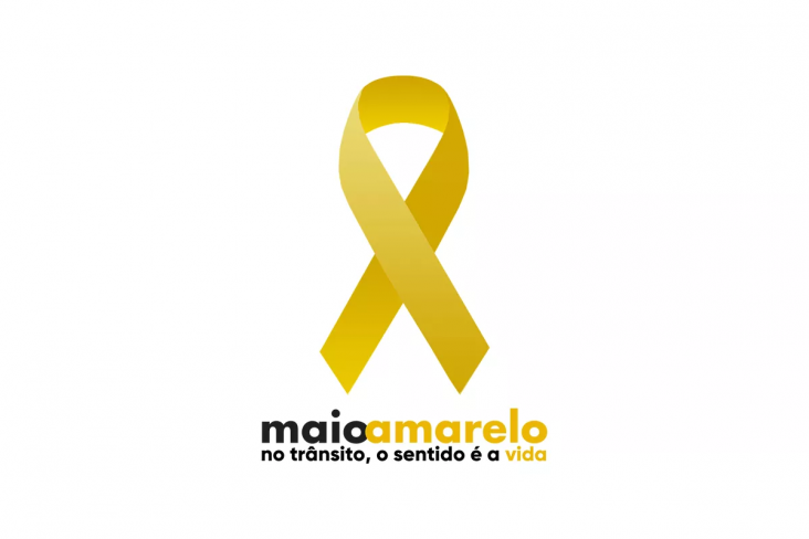 maio amarelo logo seguranca transito mortes acidentes
