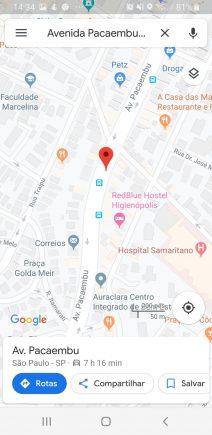 buscar rota google maps