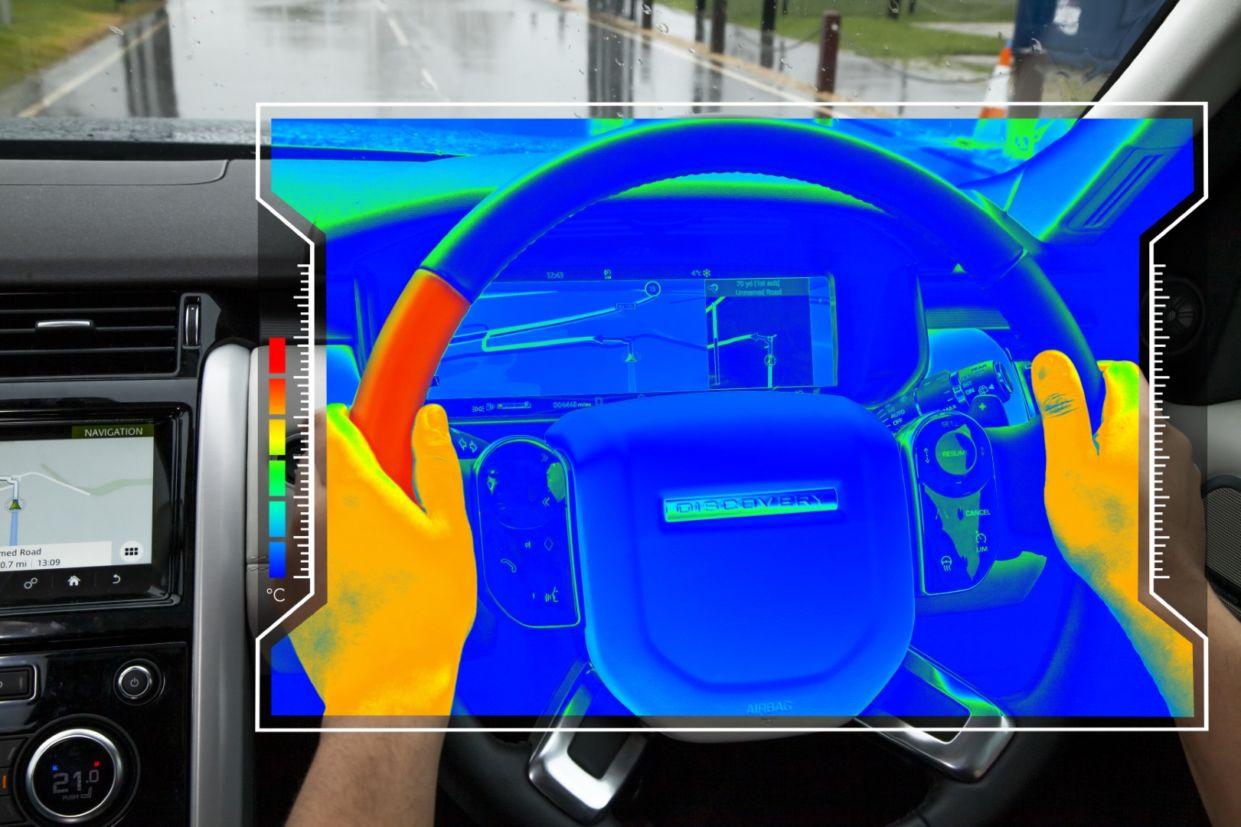 volante sensorial variacoes de temperatura jaguar land rover