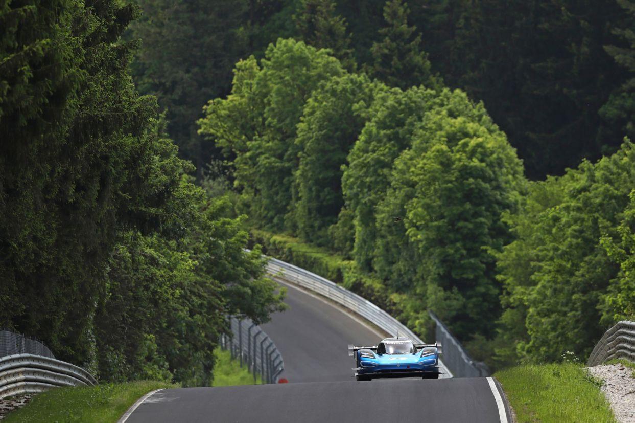 carro de corrida eletrico volkswagen pikes peak