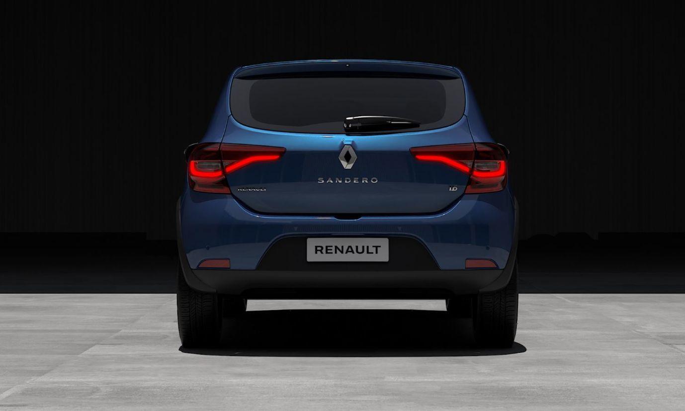 renault sandero 2020 traseira Dias antes do lançamento, a Renault revelou como o novo Sandero ficou no Brasil, e mesmo depois de vários flagras, as imagens trazem surpresas sobre o hatch