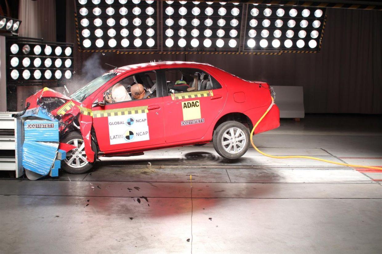 Latin Ncap revelou os resultados dos testes de imapcto dos modelos Fiat Cronos e Argo; e Toyota Etios. Proteção para adultos e crianças não é excelente.