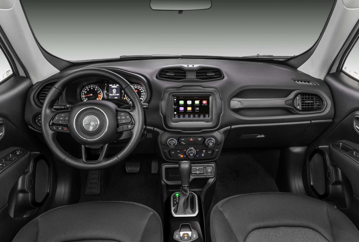 novo jeep renegade 2020 interior cabine