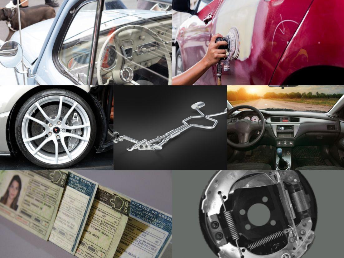 quebra-vento-ventarola-lanternagem-chapearia-cnh-carta-freio-breque-painel-tabelier-roda-jante-escapamento-surdina-carro-automovel-peças