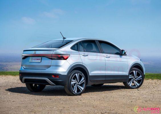Traseira do novo SUV VW T-Sport prata