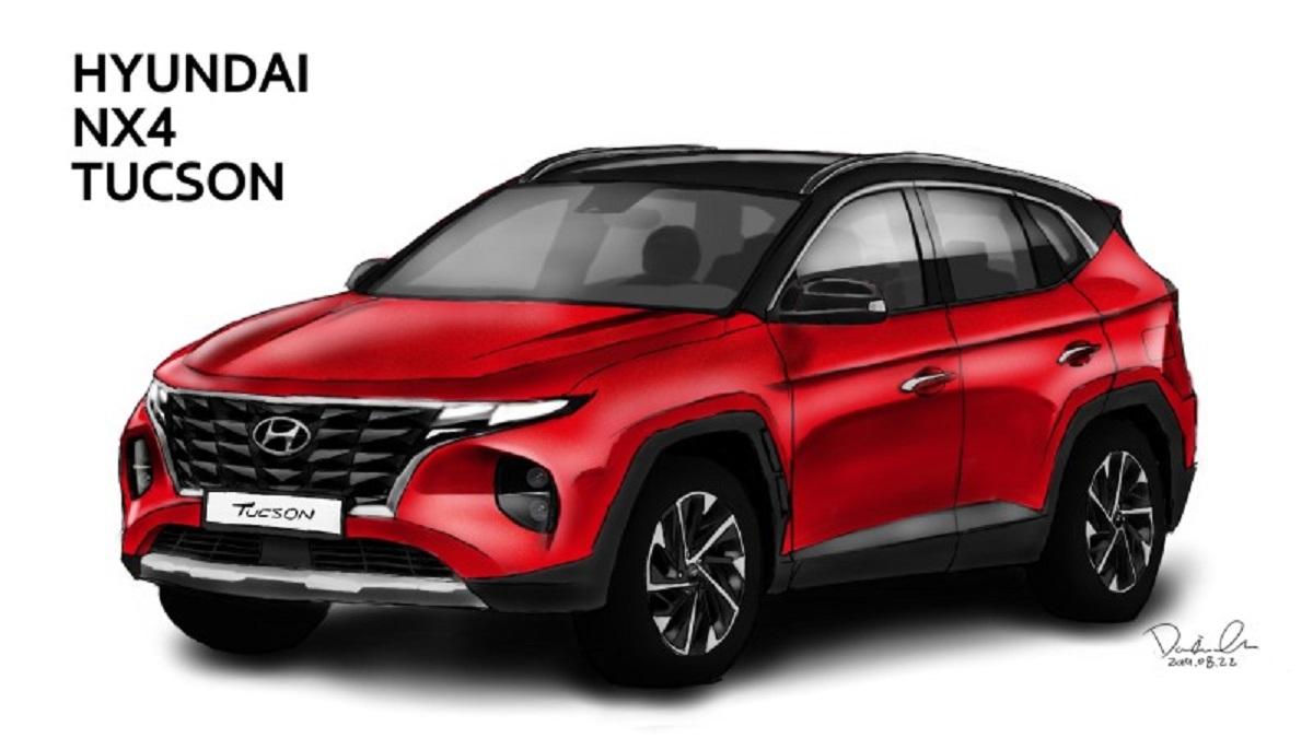 Designer se baseou nas últimas fotografias do novo Tucson, utilitário esportivo da Hyundai, flagrado na Coreia e que ganhará nova geração em breve.
