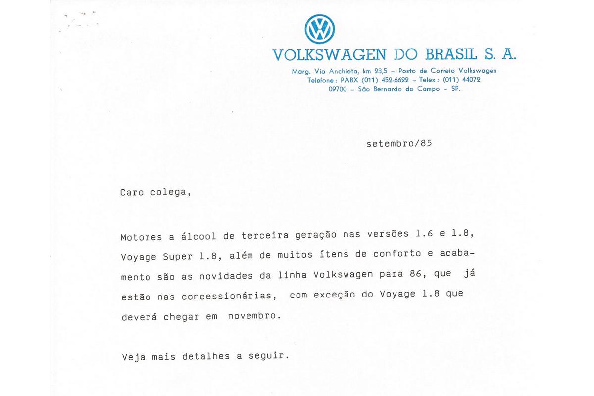 release da volkswagen motor ap setembro de 1985