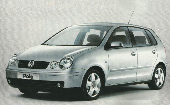 Frente do Volkswagen Polo prata