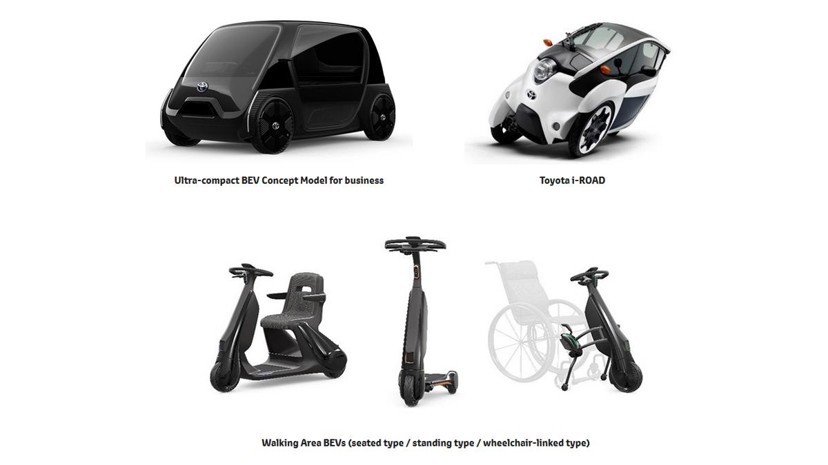 """A Toyota, no Salão de Tóquio 2019, revelou gama """"Mobility for All"""" de veículos elétricos e compactos para transporte urbano e de idosos."""