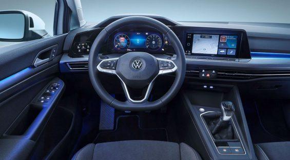 novo golf 8 oitava geracao volkswagen interior