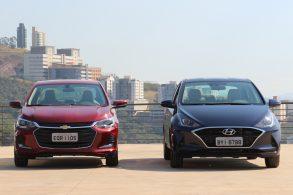 Chevrolet Onix Plus e Hyundai HB20S foto Alexandre Carneiro