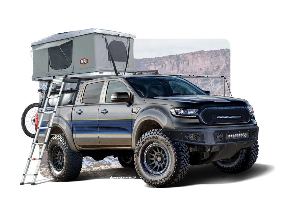 ford ranger hellwig preparada para o SEMA Show. Evento é o maior do mundo em modificações automotivas.