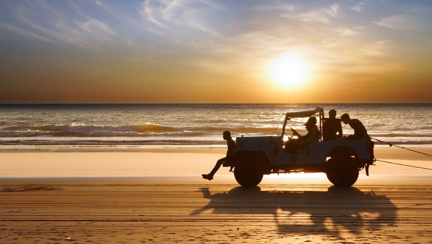 carro na praia proibido