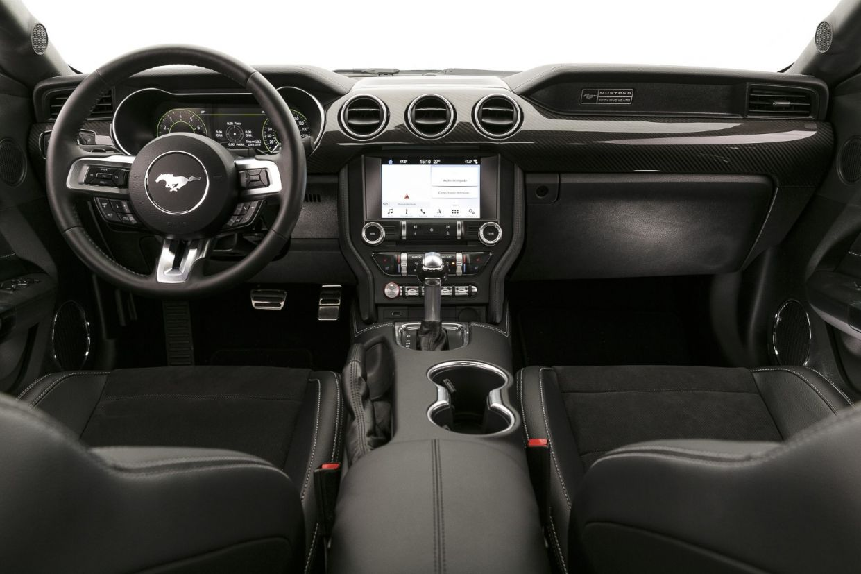 ford mustang black shadow interior 2