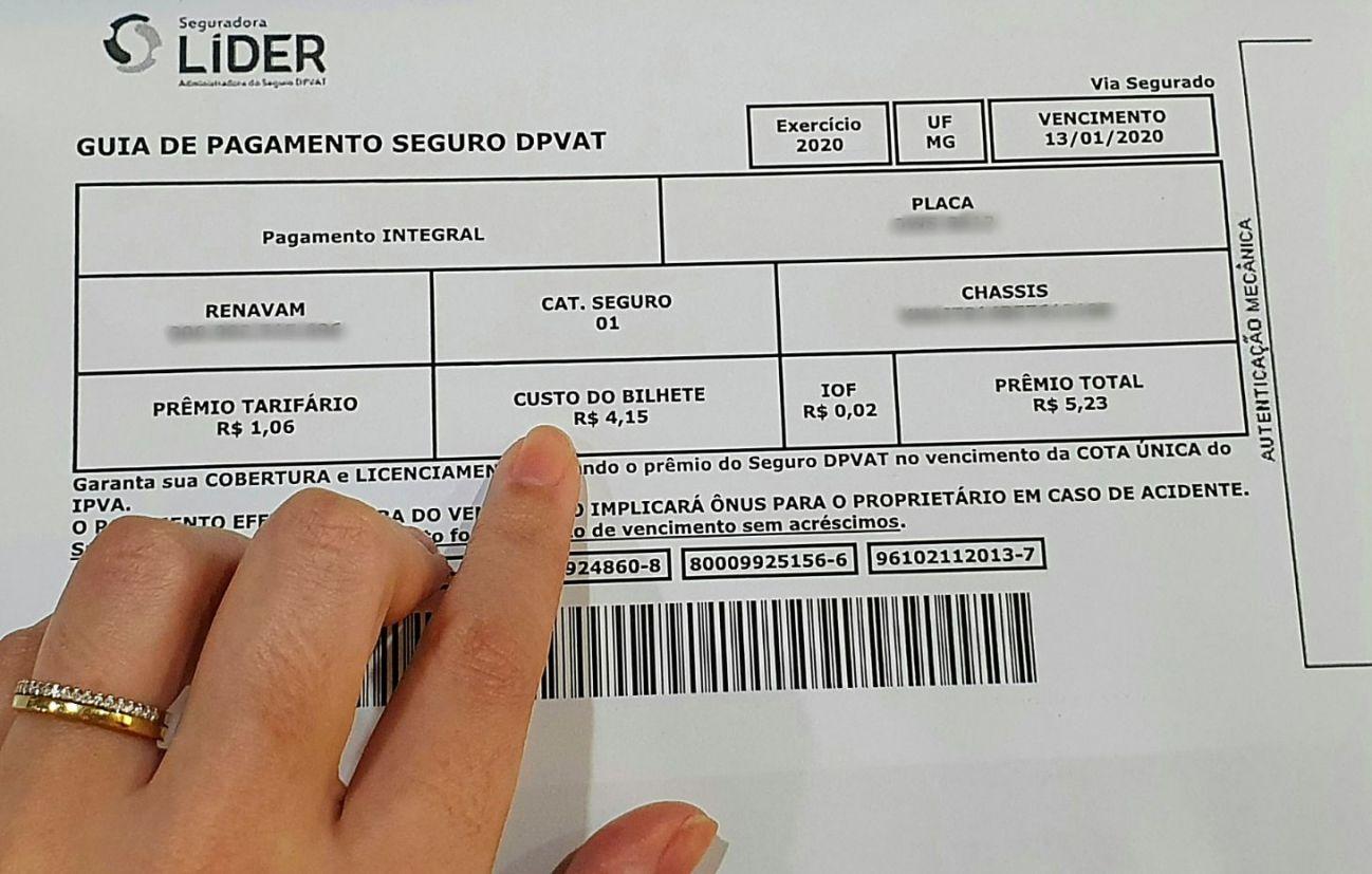 custo do bilhete dpvat