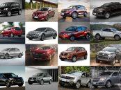 montagem lista 16 carros 0km