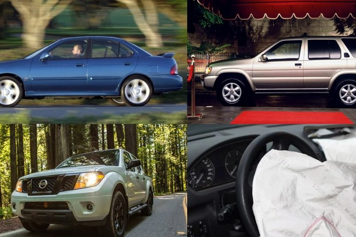 nissan sentra frontier pathfinder recall airbags takata