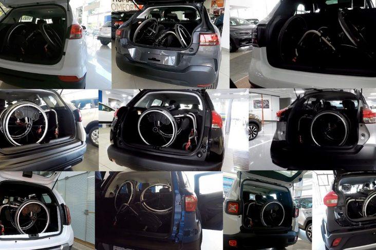 montagem 10 carros porta malas pcd