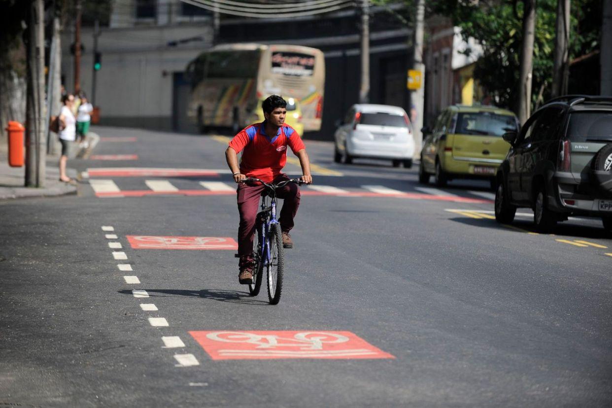 ciclofaixa no rio de janeiro foto tania rego agencia brasil