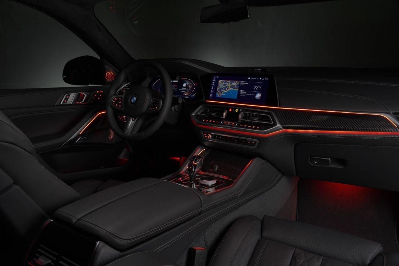 bmw x6 2020 iluminacao cabine interior luz